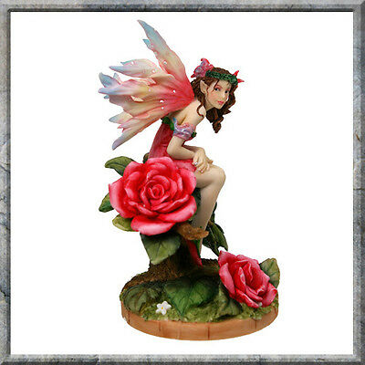 OTHERWORLD EDITION LINDA RAVENSCROFT FAERY FIGURINE STATUE MORNING ROSE FAIRY