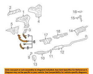toyota oem 98 02 corolla 1 8l l4 exhaust system front pipe rh ebay com 2006 toyota corolla exhaust system diagram 2000 toyota corolla exhaust system diagram