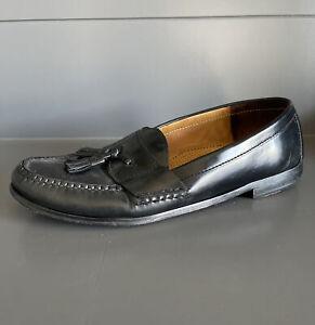 Cole Haan Men's Pinch Tassel Loafers Black Leather Moc Toe Dress Shoes Size 11 D