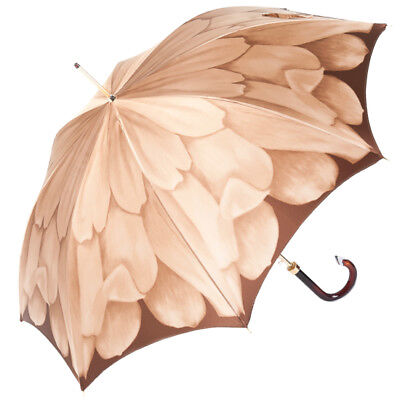 Luxury Ladies Automatic Umbrella by Pasotti Dahlia Red Single Canopy