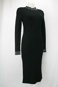 Michael-Kors-Black-Sweater-Dress-with-Diamante-Detailing-Size-M