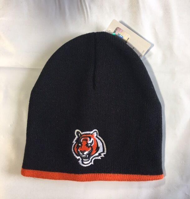 4c7e4827 Cincinnati Bengals Knit Beanie Winter Hat Toque Skull Cap Black With Orange  Trim