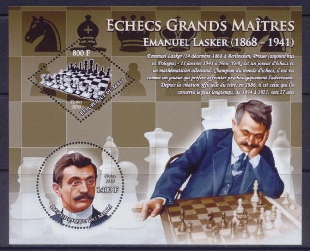 Mali - Chess grand masters - the set of 5 MNH sheets