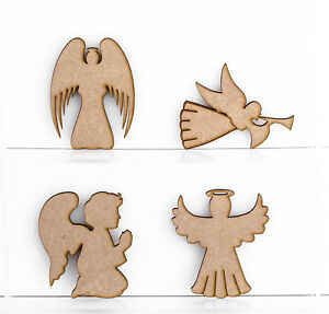 various angels craft shapes 3mm mdf wood christmas embellishments