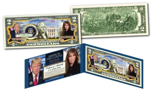 Genuine Legal Tender $2 Bill America/'s First Couple DONALD /& MELANIA TRUMP