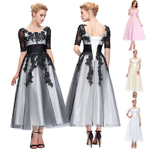 Vintage Womens Tulle Princess Ball Gown Party Prom Cocktail Swing Dress