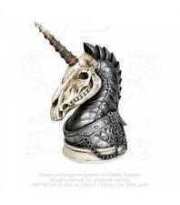 Alchemy GOTHIC-la bóveda-geistalon Unicornio cráneo-Soporte de joyas Fantasía