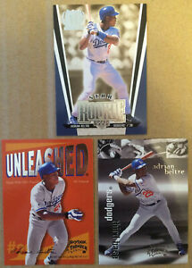 Adrian-Beltre-LOT-of-3-star-rookie-insert-base-cards-NM-1999-Future-HOF-Dodgers