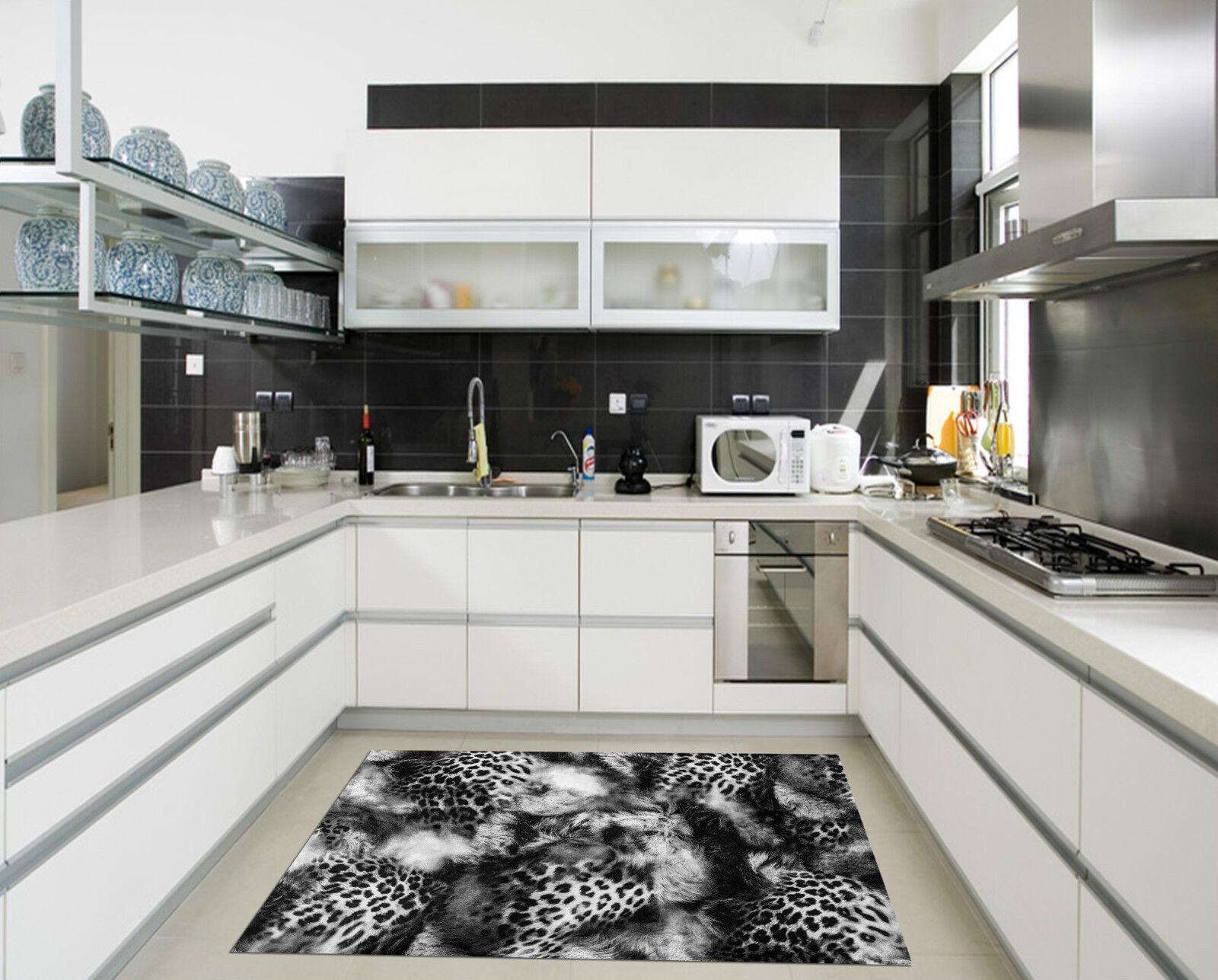 3D 3D 3D Leopard Feather Kitchen Mat Floor Mural Wall Print Wall Deco AJ WALLPAPER CA 0dafbe