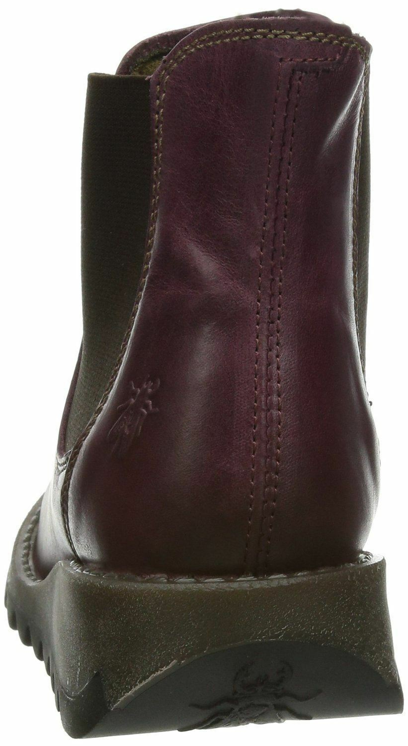 Fly london london london Salv purple Cuir women Ankle Bottes 0886cb