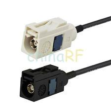 Coche Cable De Extensión De Antena FAKRA A hembra a FAKRA B Hembra coleta de RG174 10 FT