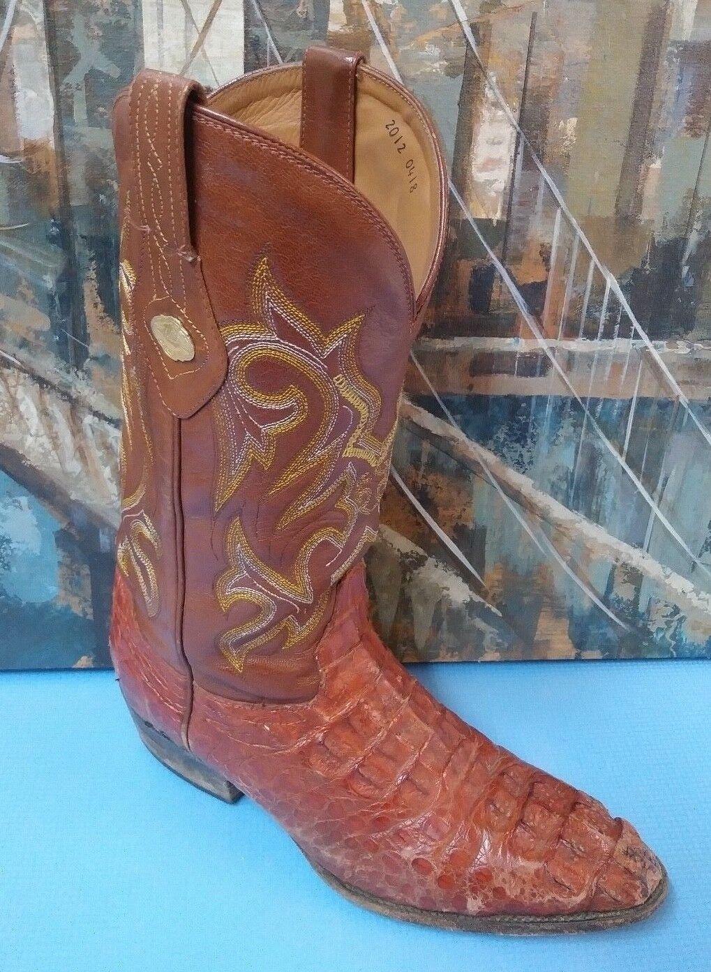 El general exótico Cocodrilo botas de vaquero Talla EE. UU. 9  México 28, Marrón