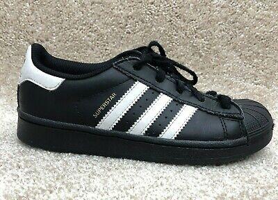Adidas Superstar C Shell Toe Black White D70186 Boys Youth Size 1 888597253043   eBay