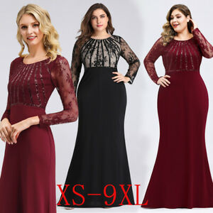 Details about Ever-Pretty Plus Size Formal Lace Long Sleeve Bodycon Evening  Gown Dresses 07771