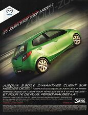 Publicité Advertising MAZDA les jours ZOOM ZOOM MAZDA 2