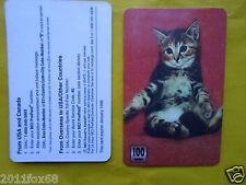 1998 phone cards 100 units schede telefoniche telefonkarten katzen cats chats gq