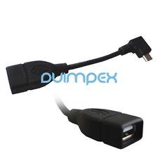 G10 USB 2.0 A Buchse auf Micro B Stecker Kabel Adapter abgewinkelt links Samsung