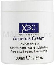 XBC Aqueous Cream Emollient 500ml Large Tub Relief for Dry Skin (Fragrance Free)