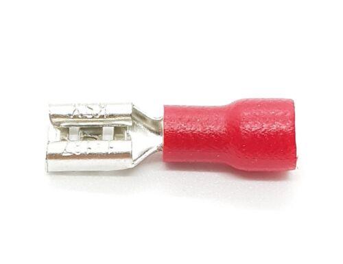 4,8 x 0,8 mm 0,5-2,5mm² 50x Cavo Scarpe TERMINALI piatti femmina connettore maschio fastom CRIMPATRICE