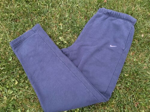 Vintage 90's Nike Sweatpants Embroidered Swoosh Bl
