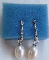 In Packaging Philippines Drop Dangle White Pearl Earrings