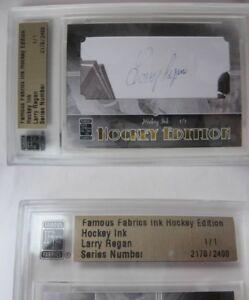 2010 Famous Fabrics Larry Regan 1/1 auto 1 of 1 autograph bruins CALDER RIP