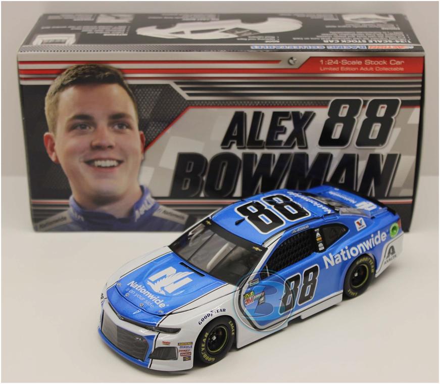NASCAR 2018 ALEX BOWMAN   88 NATIONWIDE INSURANCE 1/24 CAR