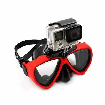 Schwarz Tauchermaske Scuba Schnorchel Goggles Face Glasses Mount Für GoPro Hero