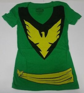 d6247f8a6 Authentic Marvel X-Men Jean Grey Phoenix Deep V-neck Custom Ladies T ...