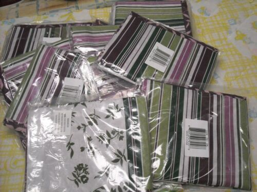 Lot of 16 Pillow Shams Pillowcase Purple Striped Print Bedding New