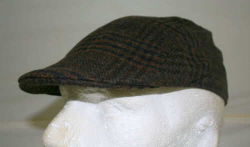 59 cm Large- One size fits all £7.49 3 colours wool mix Mens winter flat cap