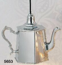 "Interni Hoff 5653 Lampada a sospensione ""Coffee-pot"" 25 x 12,5 x 18 cm in ottone argentato"