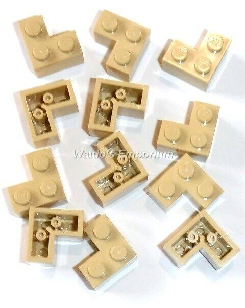 2357 Qty 12 New Lego 2x2x1 CORNER BRICK Tan