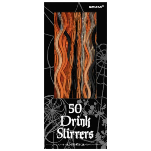 50 Assorted Halloween Party Shocktail Poison Plastic Cocktail Drinks Stirrers
