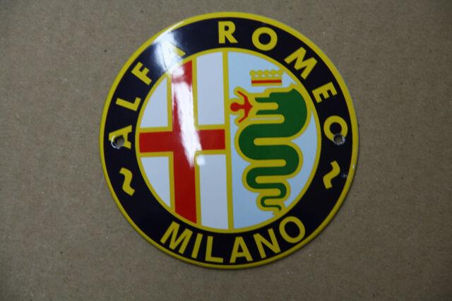 Enamel Sign Alfa Romeo ø10 cm.