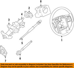 details about ford oem 11 14 f 150 steering column lower shaft bl3z3b676a 1979 Ford F-150 Steering Column Diagram