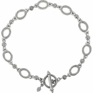 """Original Granuliert Metall Mode 7.5 """" Armband In 14k Weiss Gold Fine Bracelets"""