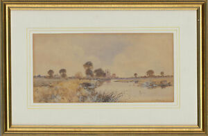 Frederick-Gordon-Fraser-Early-20th-Century-Watercolour-River-Landscape