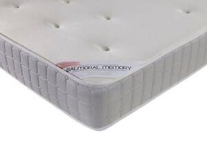 Balmoral Memory Foam Mattress Cheap Single Double Kingsize Budget
