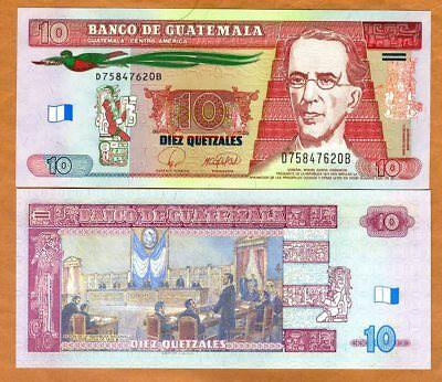 10 Quetzales P-75b 1990 Guatemala UNC