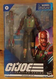 Used Hasbro GI Joe Classified Roadblock Figure with package