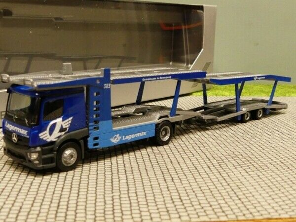 1 1 1 87 Herpa MB Actros Classic Space Lagermax auto Transporter 936057 b3ed14