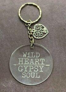 Wild-Heart-Gypsy-Soul-Engraved-Acrylic-Keyring-Stocking-Stuffer-Gift-Ideas