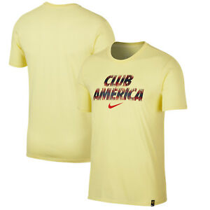 de3901a5716 Nike Club America 2018 - 2019 Poly Fan Soccer Shirt New Yellow