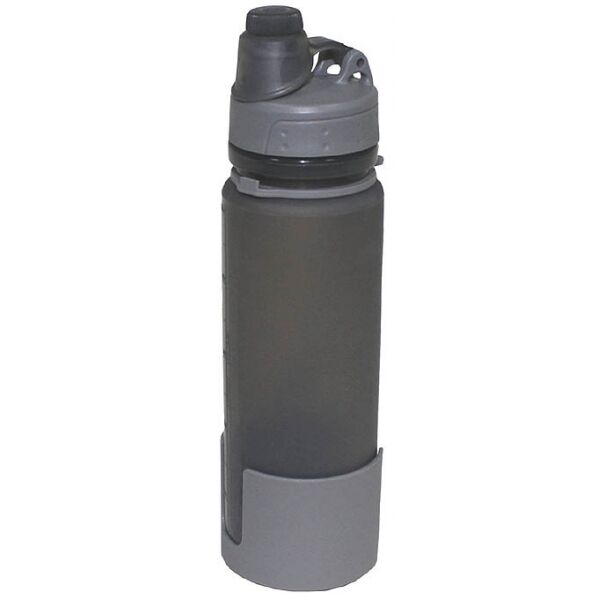 Fox Outdoor BOUTEILLE PLIABLE grey SILICONE 0,5 litre bouteille