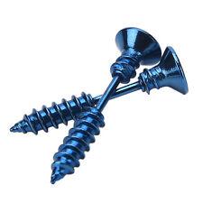 2X Jewelry Punk Style Women's Men's 316L Stianless Steel Screw Stud Earrings bo