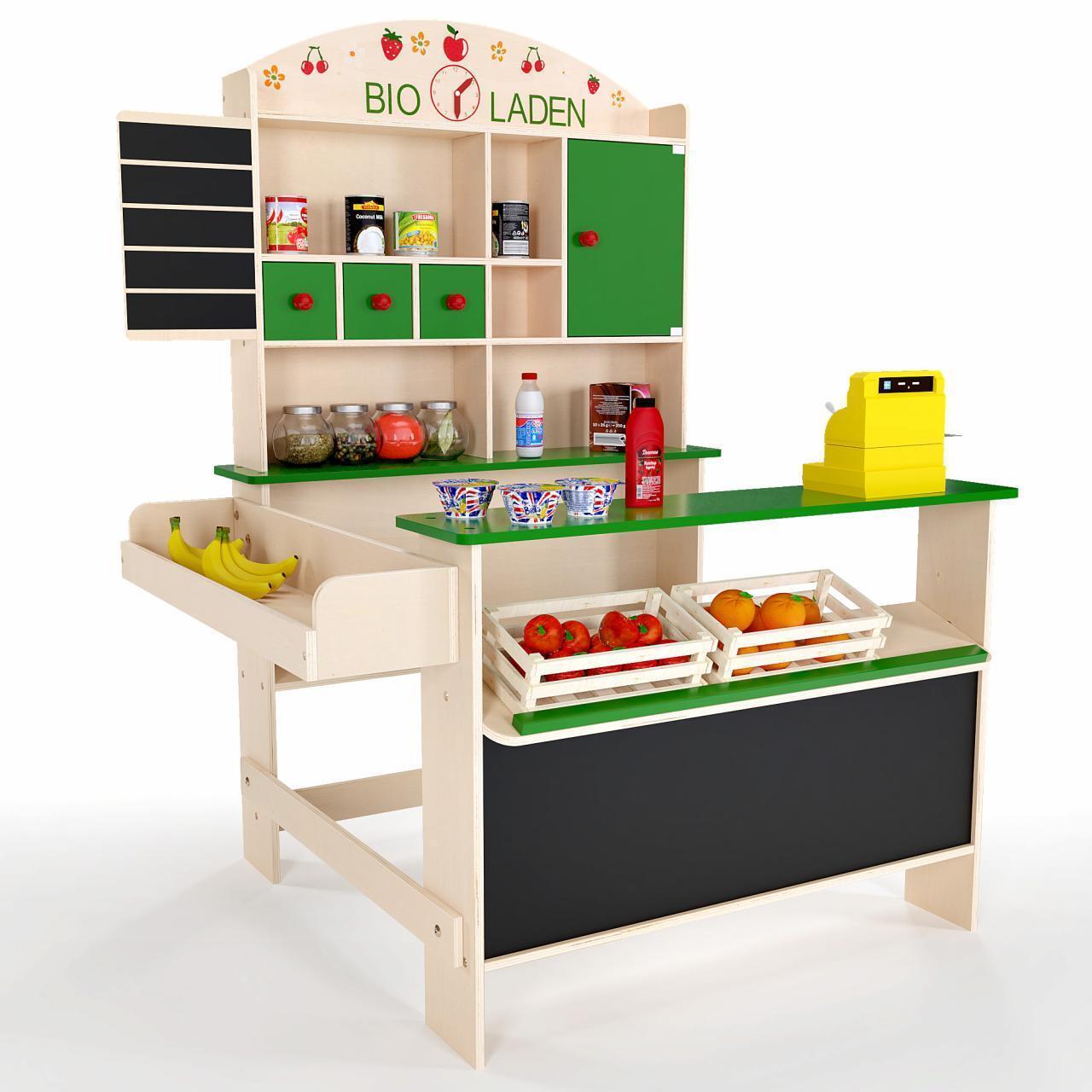 Froggy Kaufmannsladen Holz Kaufladen Bioladen Kinderladen Laden Kinder Grün  | Vielfalt
