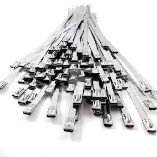 4.6mm X 360mm Acero Inoxidable Metal Bridas Correas de Calor de Escape Wrap Zip Tie