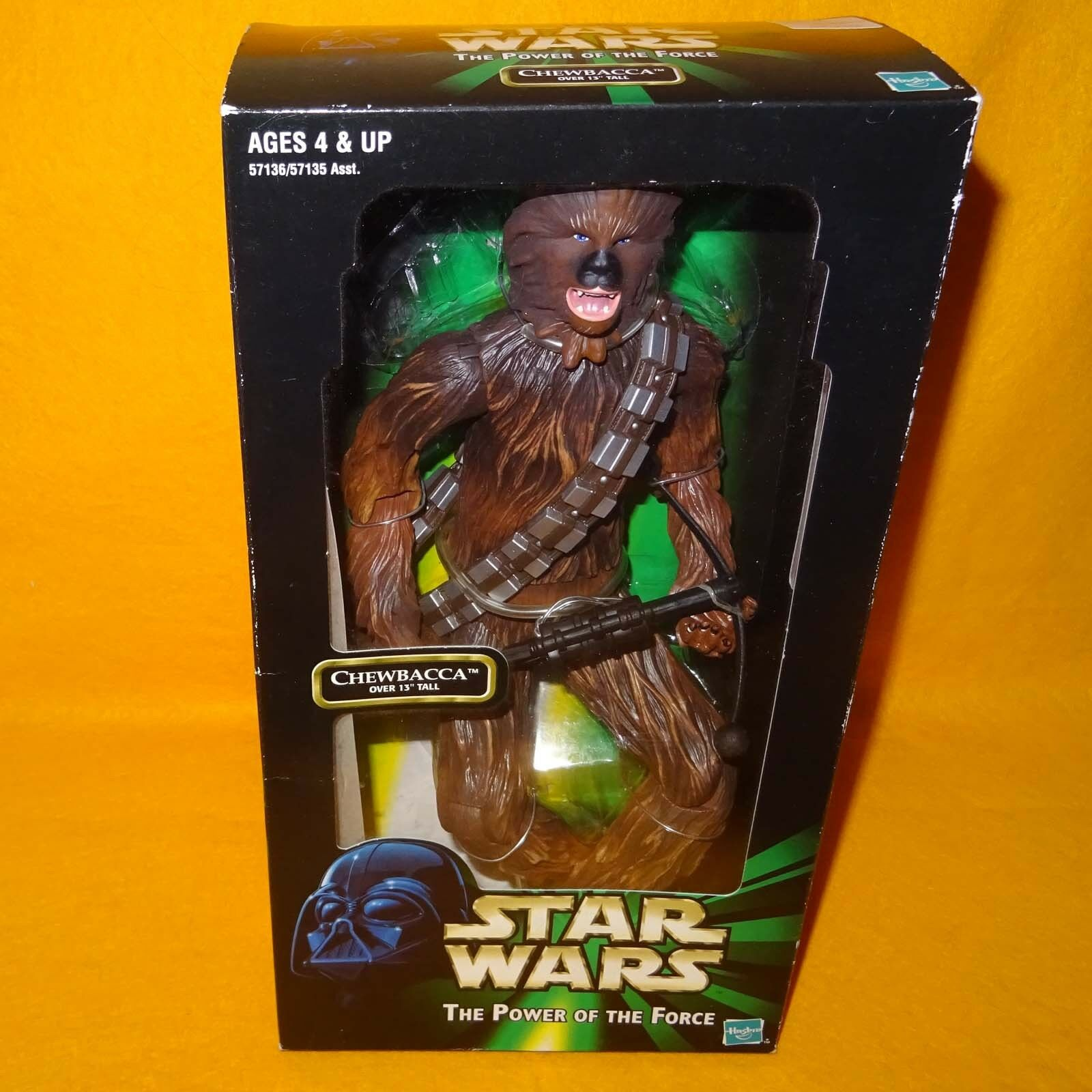 1999 HASBRO STAR WARS THE POWER OF THE FORCE CHEWBACCA 13  FIGURE BOXED SEALED