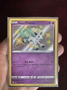 Galarian Ponyta -SV047/SV122- Shiny Rare Holo Card -Shining Fates *PACK FRESH*